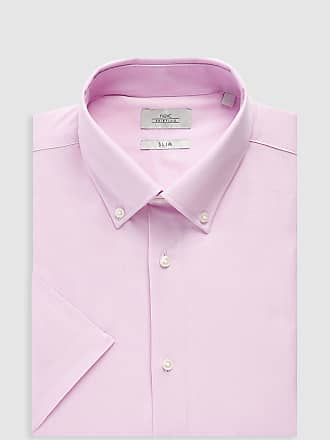 slim Oxfordhemd Rosa Pflegeleichtes Pink Normallänge Fit Next Light aYwf51n5q