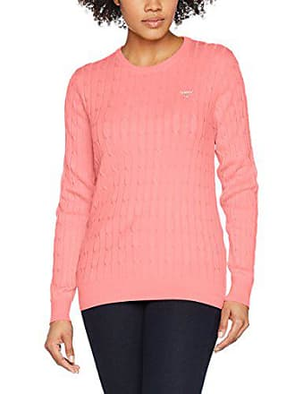 pink Crew Rose Stretch Shirt Femme Sweat Cable Gant Cotton StRwq0