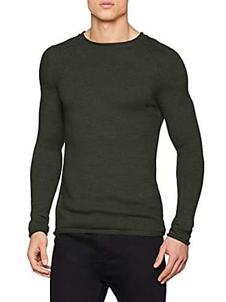Sweater green Ls Pull Sisley 72g Homme Medium Grün FO6Bqx