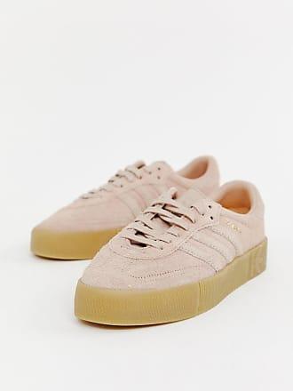 Rose Baskets en Crème Rose Samba adidas avec gomme semelle Originals tc68qFqw