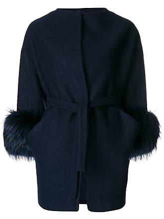 Adore Bleu Cuffs Coat Ava Fur SXOHdWqTW