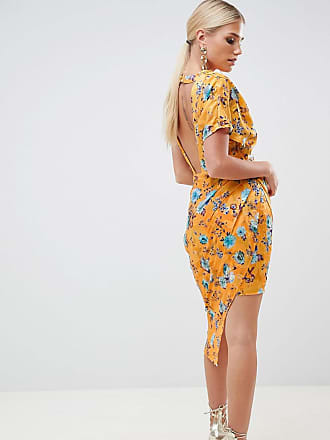 Dress sul con Asos retro design stampa e aperto floreale Midi jacquard 5FFqwrxaW