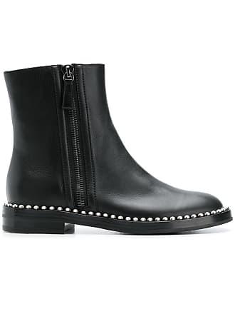 Noir Casadei Studded Boots Ankle Sole wrv4qaIr