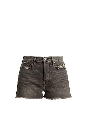 Taille Frame Original Haute Vieilli Short En Le Denim vvwqCOE