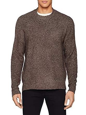 small Pull X Look Knit Brown New Boucle mid 24 Homme azfqE