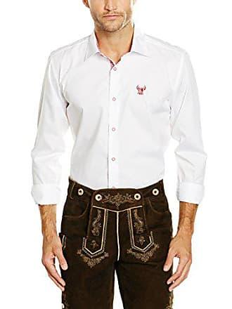 Camisa Hombre Gweih rot Para Collar 35 weiß Silk Schliersee amp; Cm Blanco Size C6CFnUqtp
