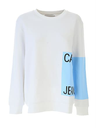 Klein 38 On 2017 White For Sweatshirt Sale Calvin Women Cotton qwz7xnZ