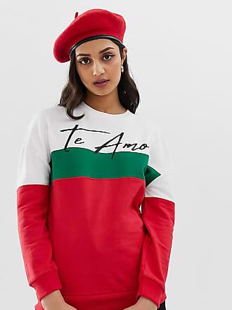 schriftzug Mit Wednesday's Amo BedrucktMehrfarbig Oversize Girl sweatshirt Te PZOkiuTX