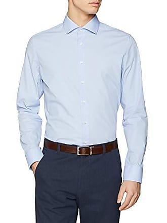 Mit Kent 37 Kragen Slim Azul Camisa Hombre Gepunktet Langarm blau Soft 11 Seidensticker 1t4Enqww