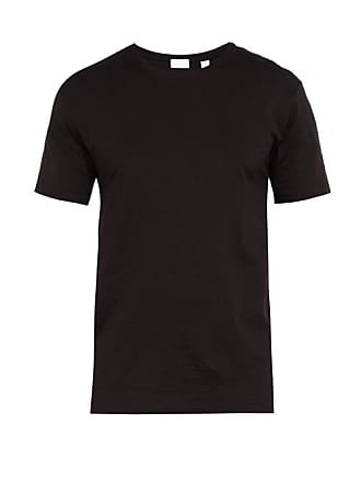 T Crew Neck Cotton Handvaerk ShirtMens Black XiPkZwOuT