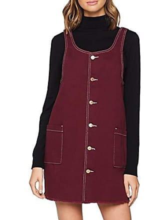 Vestido New Es Puntada Mujer Con 6015350 Rojo Botones Contraste 34 Pinny Para Look 67 De Burgundy dark RwxwqftF