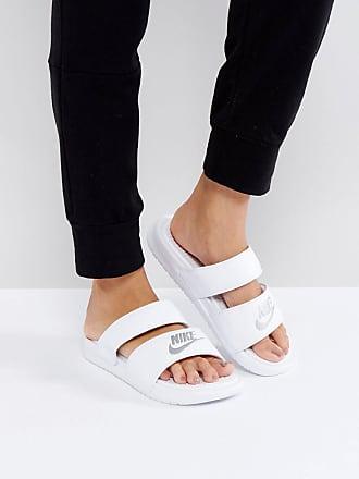 Avec Style Logo Blanc Sandales Mules Nike Duo Benassi wSxnvzqxX7