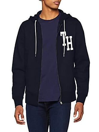 Through sky Hooded Bleu Zip Tommy Captain Homme Hilfiger Sweat Shirt ZaqAAP