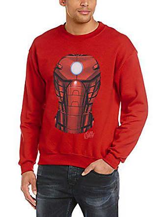 Marvel Assemble Iron Chest Sweatshirt Herren Rot Man Burst Avengers Hrv1rA
