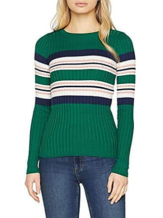 Femme 38 Vert Pattern New Stripe Look Crew Pull green Placement qX7zXwg