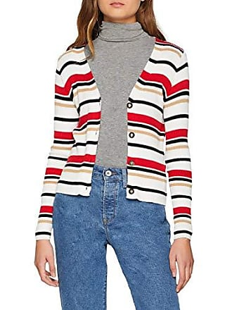 produttore Womens Stripe Point 8 Bianco dal New Taglia Look Rib bianco 36 Jacket modello Bqwnn7aU
