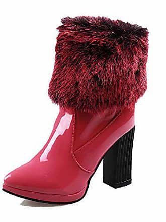 Damen spitze Rein Voguezone009 Stiefel Niedrig Rosa Ziehen 40 Auf Hoher Absatz Poliert 7ad6Wa