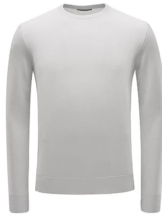 04651 Pullover R neck Hellgrau Cashmere nnC7vA