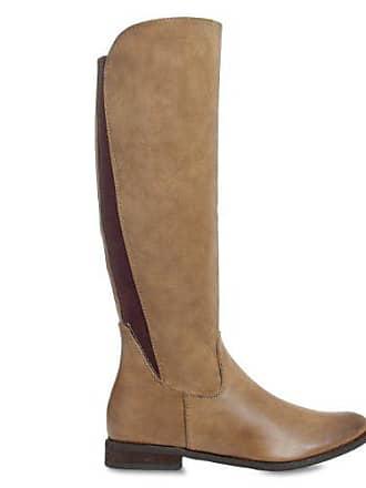 Farben Boot 3 Stiefel Fashion 38 Klassischem reiterstiefel khaki;größe Zugband Und Farbe Elastischem Caspar Mit Damen Chelsea Design OXqw7F