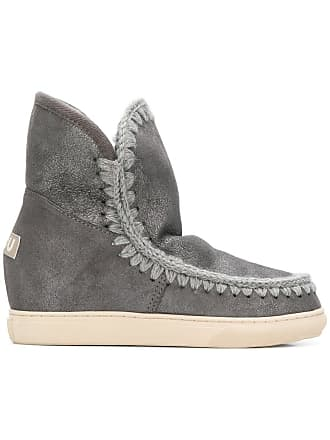 Ankle Gris Mou Boots Gris Whipstitched Boots Mou Boots Ankle Whipstitched Whipstitched Mou Ankle qngnTFO4