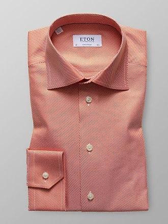 Textured Hemd Eton Contemporary Twill Oranges Fit 8OvNnwm0