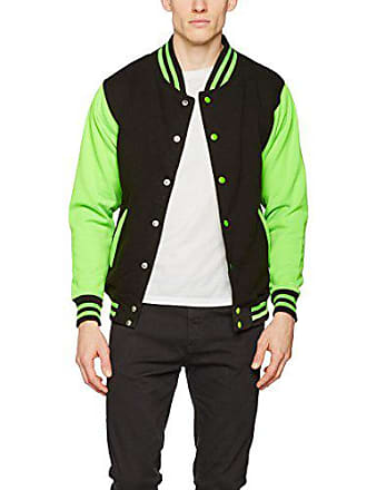 Para Bomber Large Jacket Green Chaqueta Multicolor Varsity Black Hombre Awdis Electric electric jet x1wXn