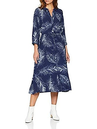 navy Femme Pattern Feather Midi Robe 36 Shirt 40 Blue Print Warehouse wP0gqnfw