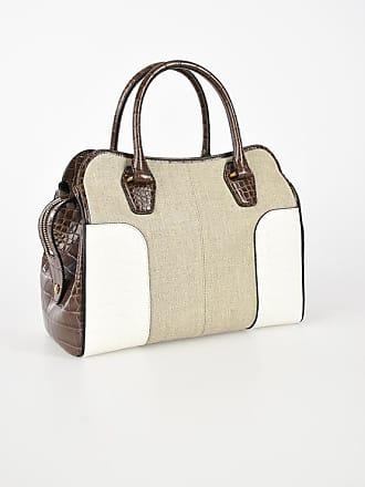 a mano Tod's And Taglia Borsa Leather Linen Unica w7nInxOCq4