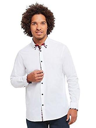 Camisa Double Hombre Joe Collar Delectable Oficina white De Browns Shirt Para Medium Blanco RqfUXU