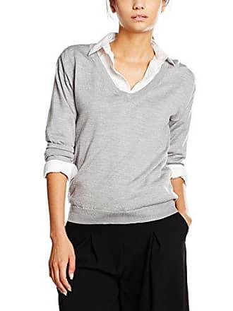 K Merino Para Filippa Xl light Gris Jersey neck Grey V Pullover Mujer UdxxAaw