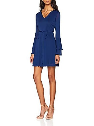 Del Double Para Azul Mela Vestido Dress Sleeve talla 8 Fabricante navy Mujer Trumpet 36 PRBwqwU