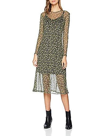 Mujer Look 9 40 Mesh6162308 New black Para Es Vestido Pattern Ditsy qfUdXw1