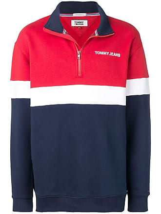 Neck Sweatshirt Blauw Funnel Jeans Tommy UwxqCvE8U