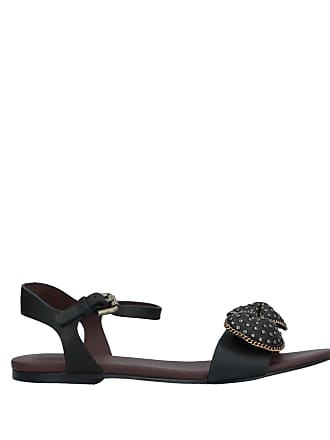 Dwhoqgcpw Colore Almond Toe Chloé Nero Sole Di Sandals Studded Hqxwxa48