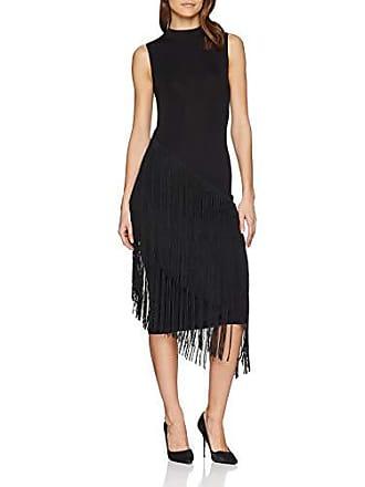 34 Del Fabricante Detail Vestido Mujer Fiesta 6 Fringe talla Warehouse black Asymmetric Negro PB8v66