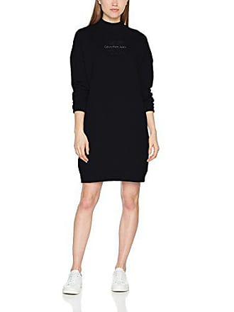 Hwk Negro Mujer Vestido Jeans Dress Klein Denver Black Ls Para Large Icon 099 True ck Calvin xq4X8P8