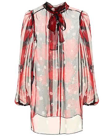 Imprimée Blouse À En Dolce Lavallière Soie amp; Gabbana v8UnxpC