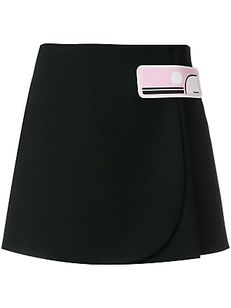 Skirt Wrap Prada Short Skirt Noir Prada Wrap Short Prada Noir Short Skirt Wrap wyH4p4Iaq