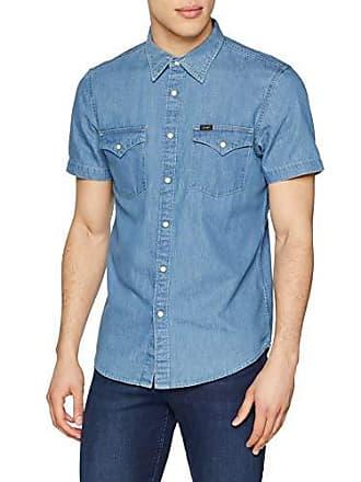 Blue Lee Ej light Western Large Hombre Shirt Azul Ss Camisa qx0wrqH8