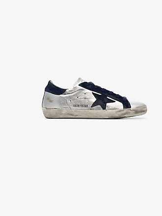 Goose Blue Leather Superstar Golden Metallic Silver Sneakers And FBqAdnz6