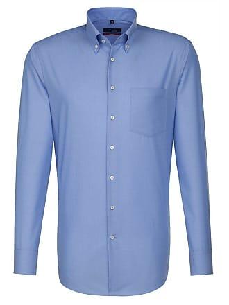 down Seidensticker Mittelblau Normale Button Blau ärmellängen Businesshemd kragen »modern« Pwqt1zw