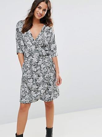 De Con Frnch Floral Vestido Diseño Cruzado FvHYwX