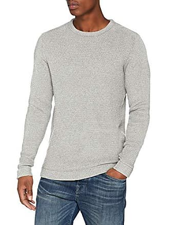 Noos Selected W Homme light Crew Pull Neck Gris Grey Homme Slhvictor wIpTrqXp