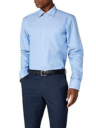 Azul Seidensticker Larga Mittelblau Cuello Para Clásico De 43 Manga 3000 14 Camisa Hombre Con UqA4rvUw