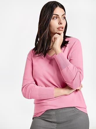 ausschnitt Damen pullover Basic Lila Samoon V Mit pink xrCodBe