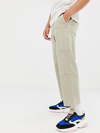 Beis Sarga En Grueso De Tejido White Pantalones Asos Cargo 04waAaq