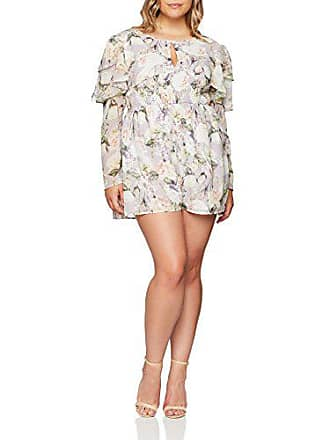 The Sleeve 52 Floral Femme multicoloured Ruffle Combishort Elvi 001 In Multicolore Romantic Oda Playsuit Print wStTqRdt