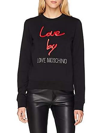 talla Round With Mujer Sweatshirt Moschino Negro Logo black 38 Para Del Love Collar 40 Fabricante C74 Sudadera O5Iww