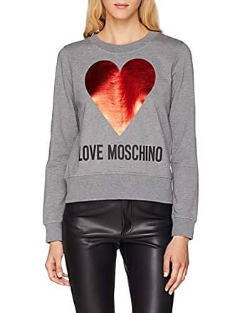 Love Gris Heart Sweatshirt Round Print Collar Shirt With Moschino Femme Sweat fOqfrxv
