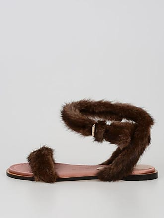 5 And Sandal Valentino Leather Fur Size 38 Garavani a0wqCwP